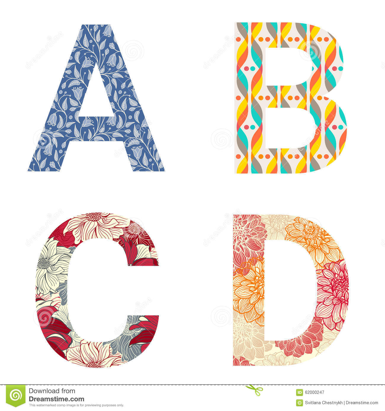 Patterned Alphabet Letters