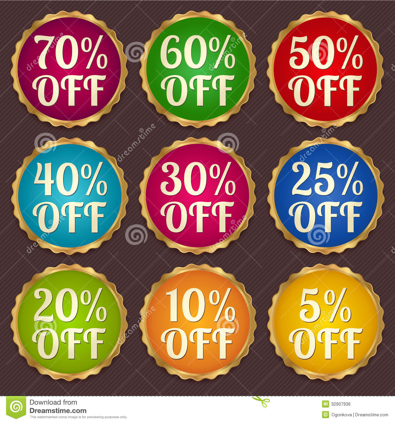 Set: Colorful Sale Banners, Labels, Discount Tag Royalty Free Stock ...