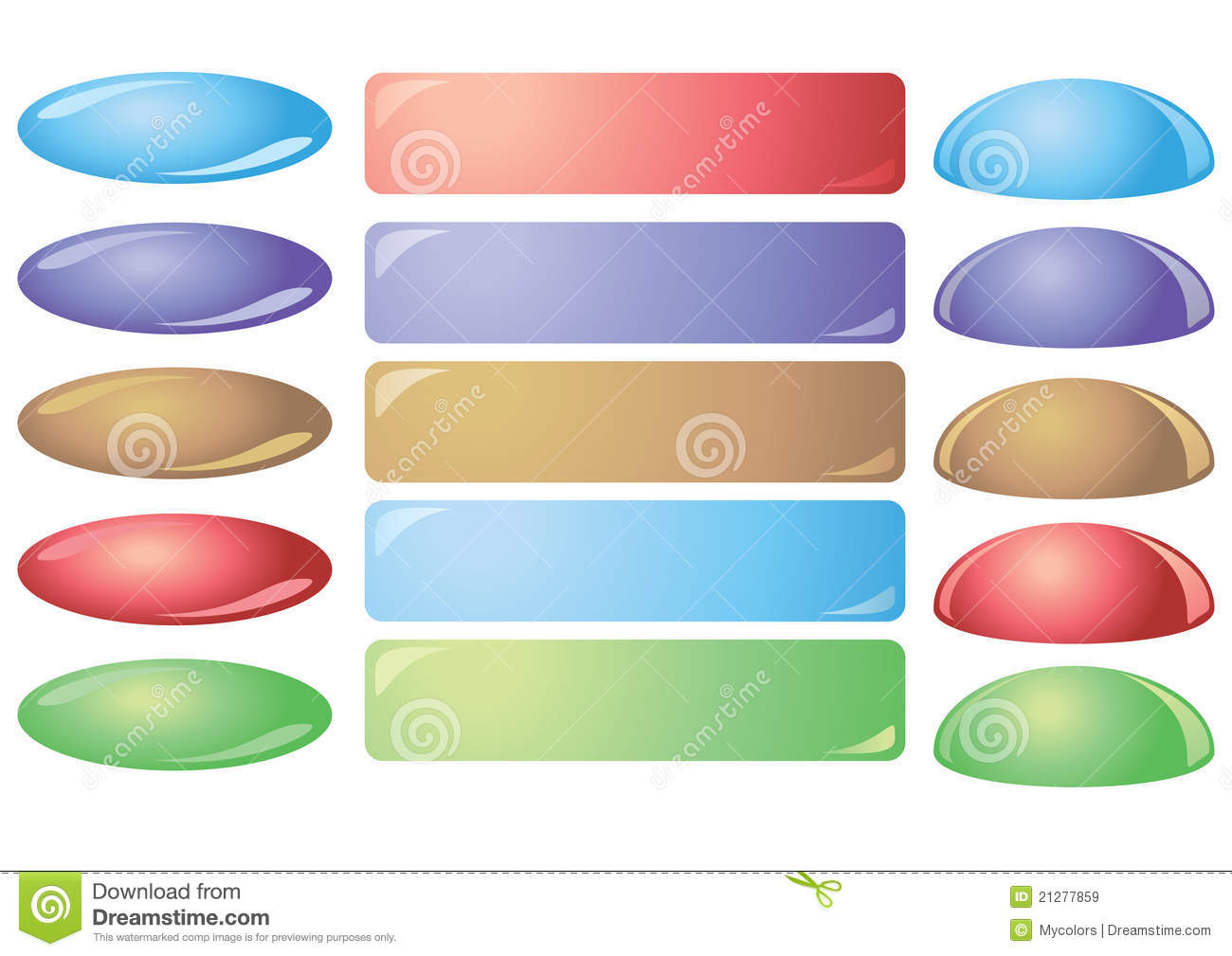 Set Of Colorful Vector Buttons For Websites Royalty Free Stock ...