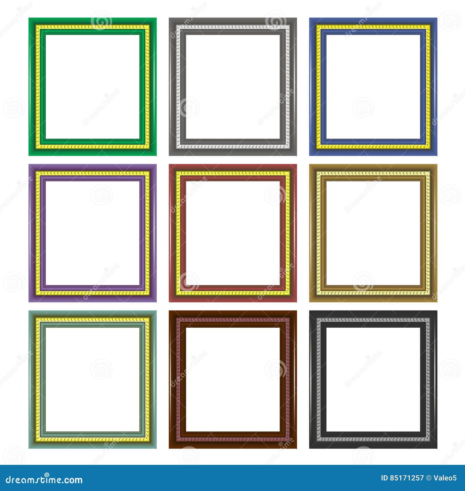 Set Of Colorful Wooden Frames Stock Vector - Illustration of grunge ...