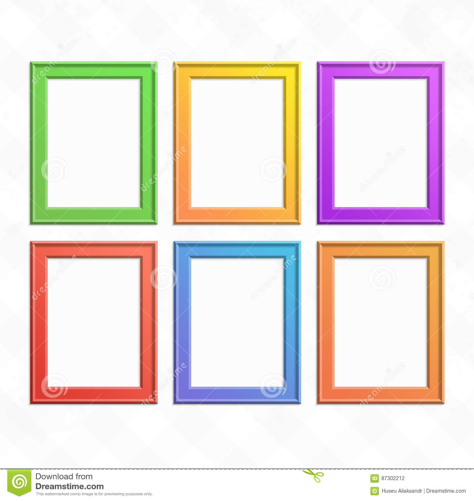 Wood frames set free vector - Set Of Colorful Wooden Frames Stock Vector