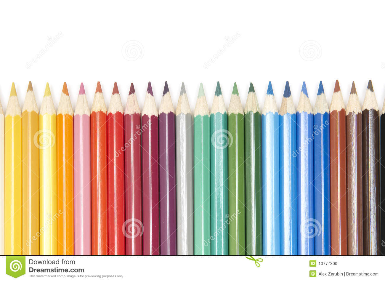 Set of colour pencils