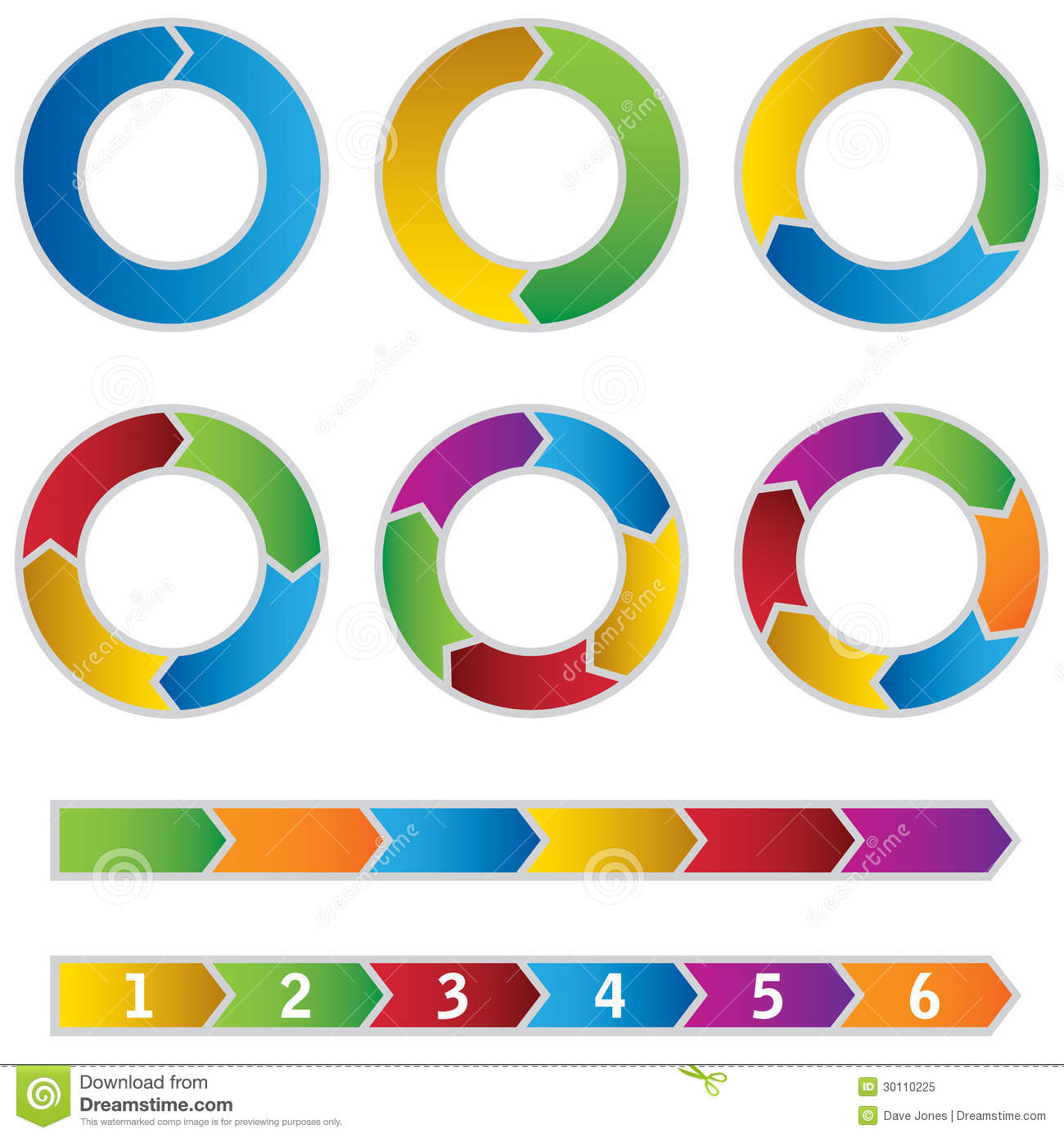 Set of colourful circle diagrams and arrows stock vector set of colourful circle diagrams and arrows ccuart Images
