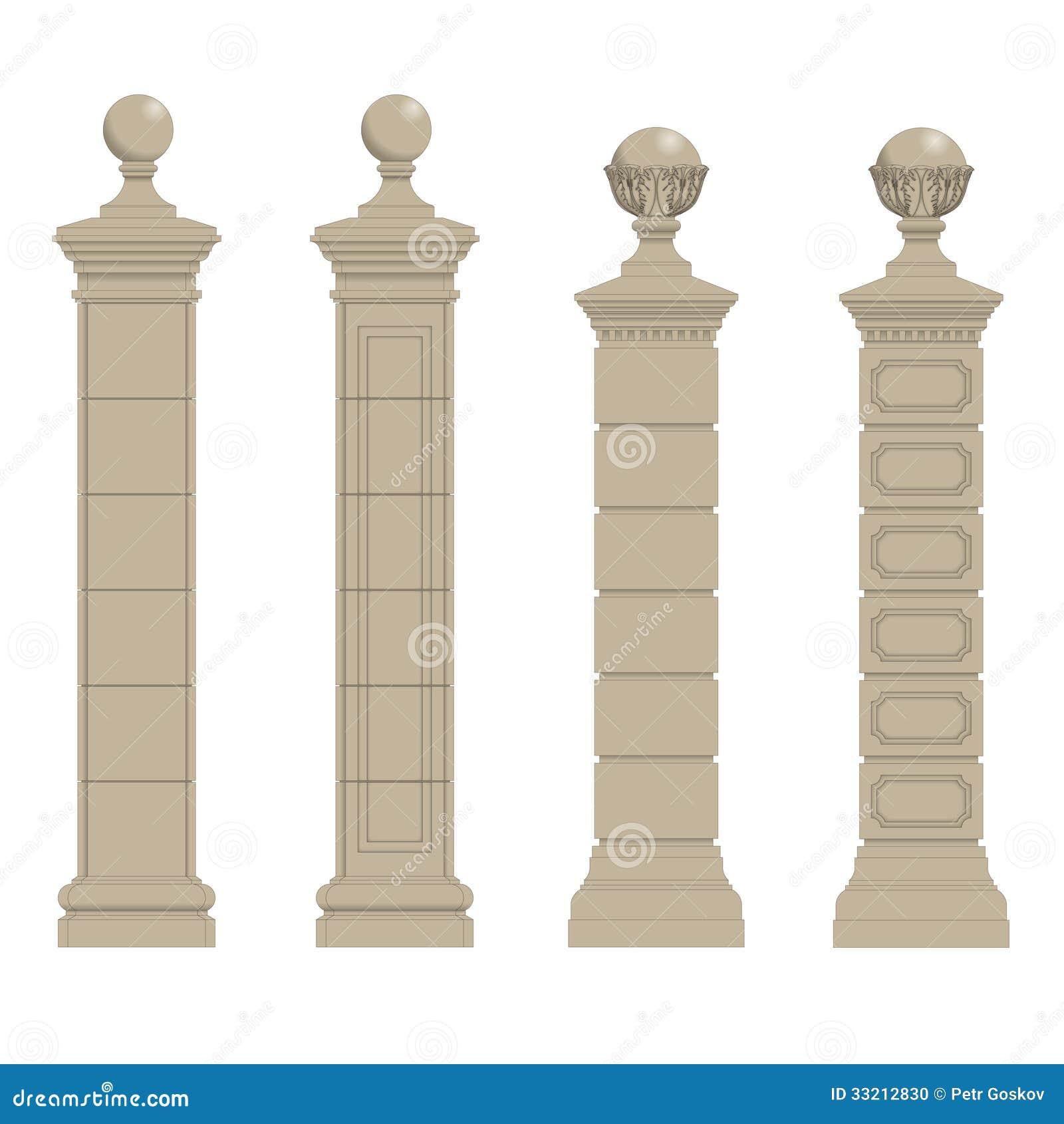 Set Of Column 3 Stock Photo Image 33212830
