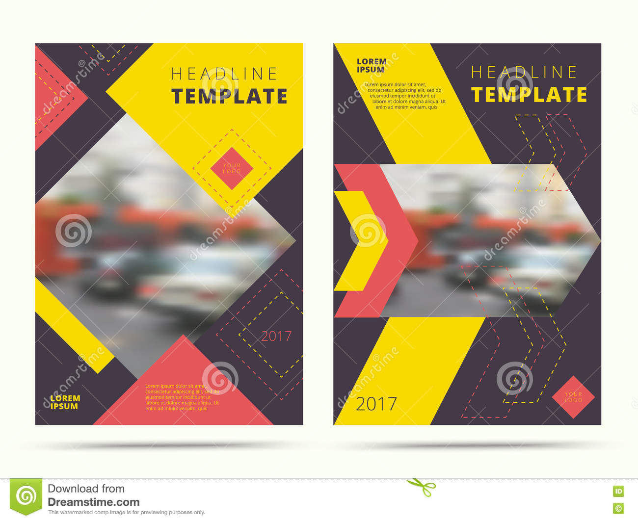 Set Of Contemporary Annual Report Abstract Cover Design Trendy – Contemporary Flyer