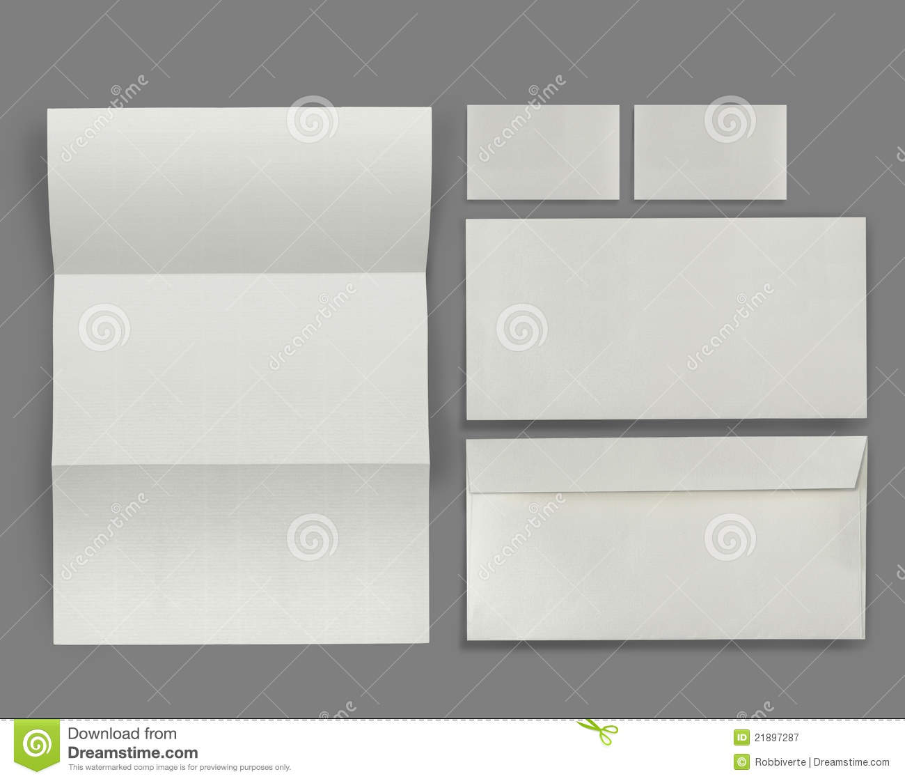 set of corporate identity template royalty free stock photography