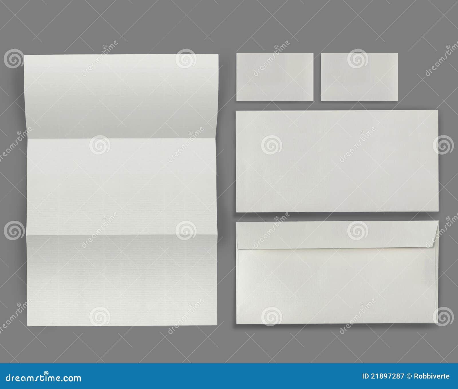 set of corporate identity template stock illustration, Powerpoint templates