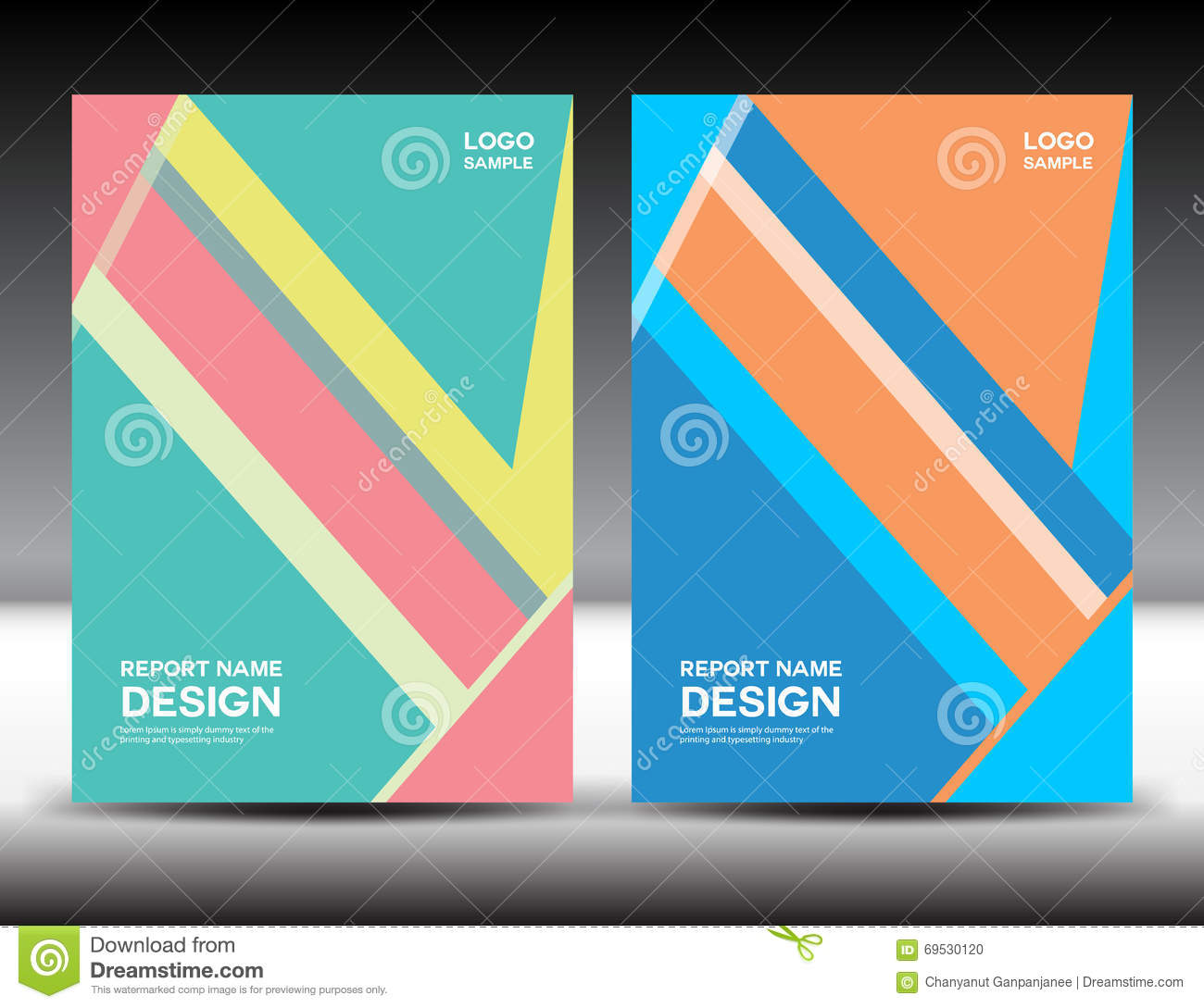 Annual Report Book Cover Design ~ Set cover design annual report brochure fl yer book