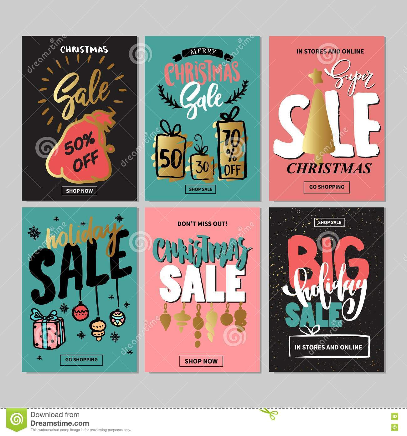 Royalty Free Vector Download Set Of Creative Sale Holiday
