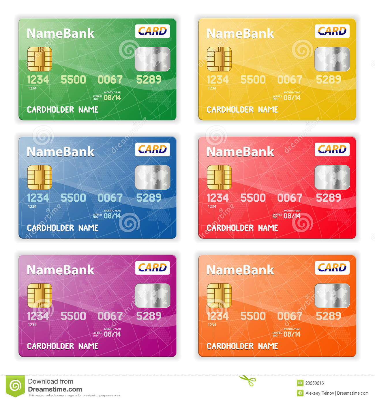 Role Play Credit Cards Debit Cards Poster: Set Of Credit Cards Stock Vector. Illustration Of Card