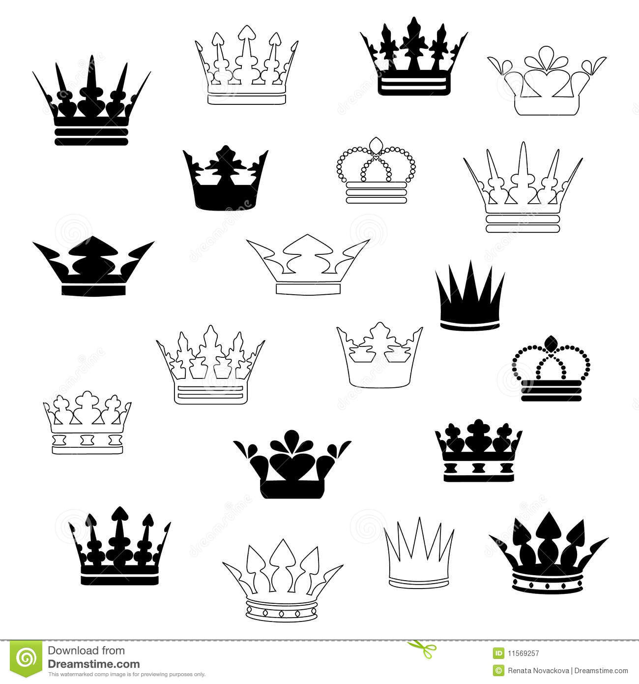 Set Of Crowns Illustration 11569257 Megapixl
