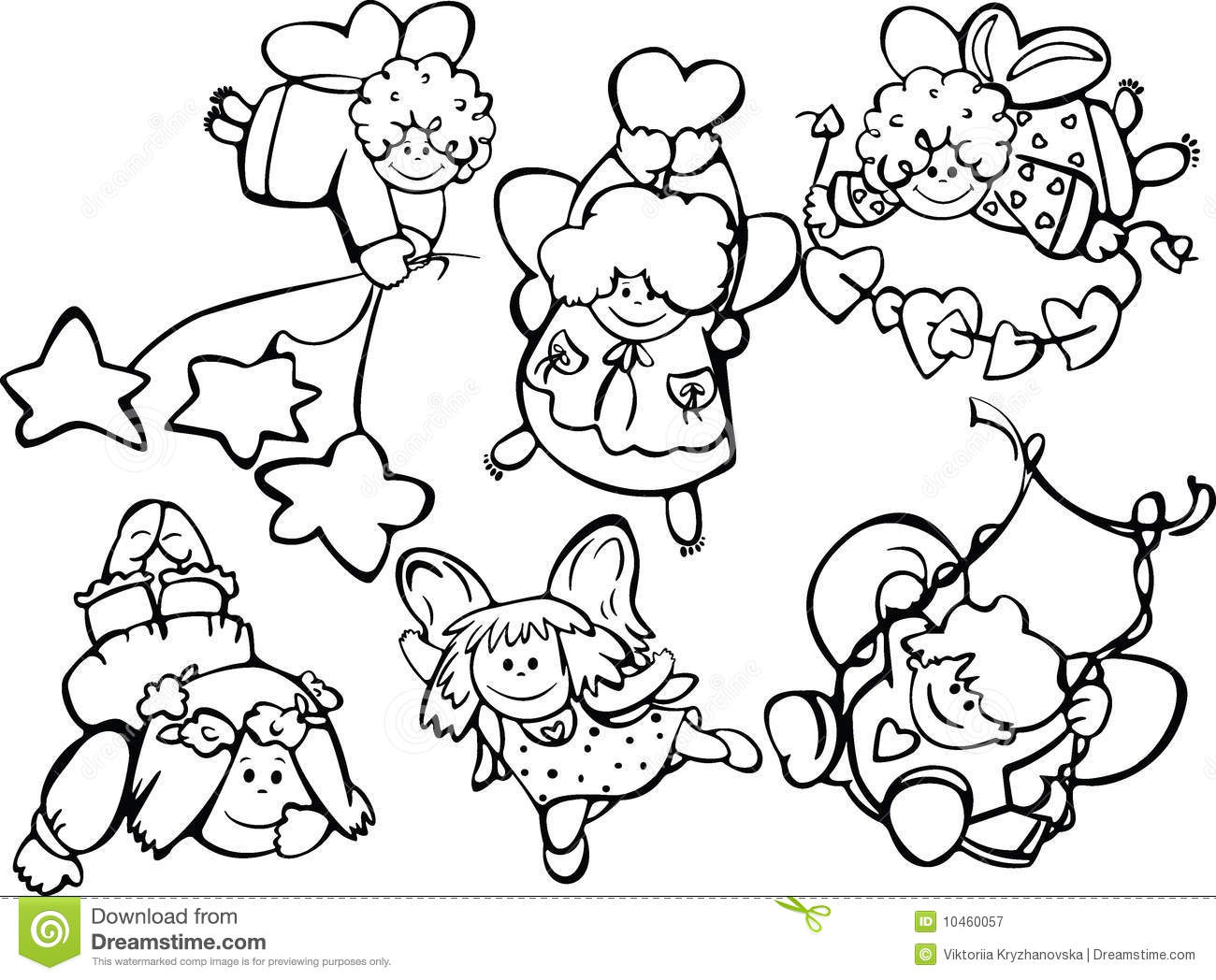 Set Of Cute Angels For Design Royalty Free Stock Photography Image 10460057