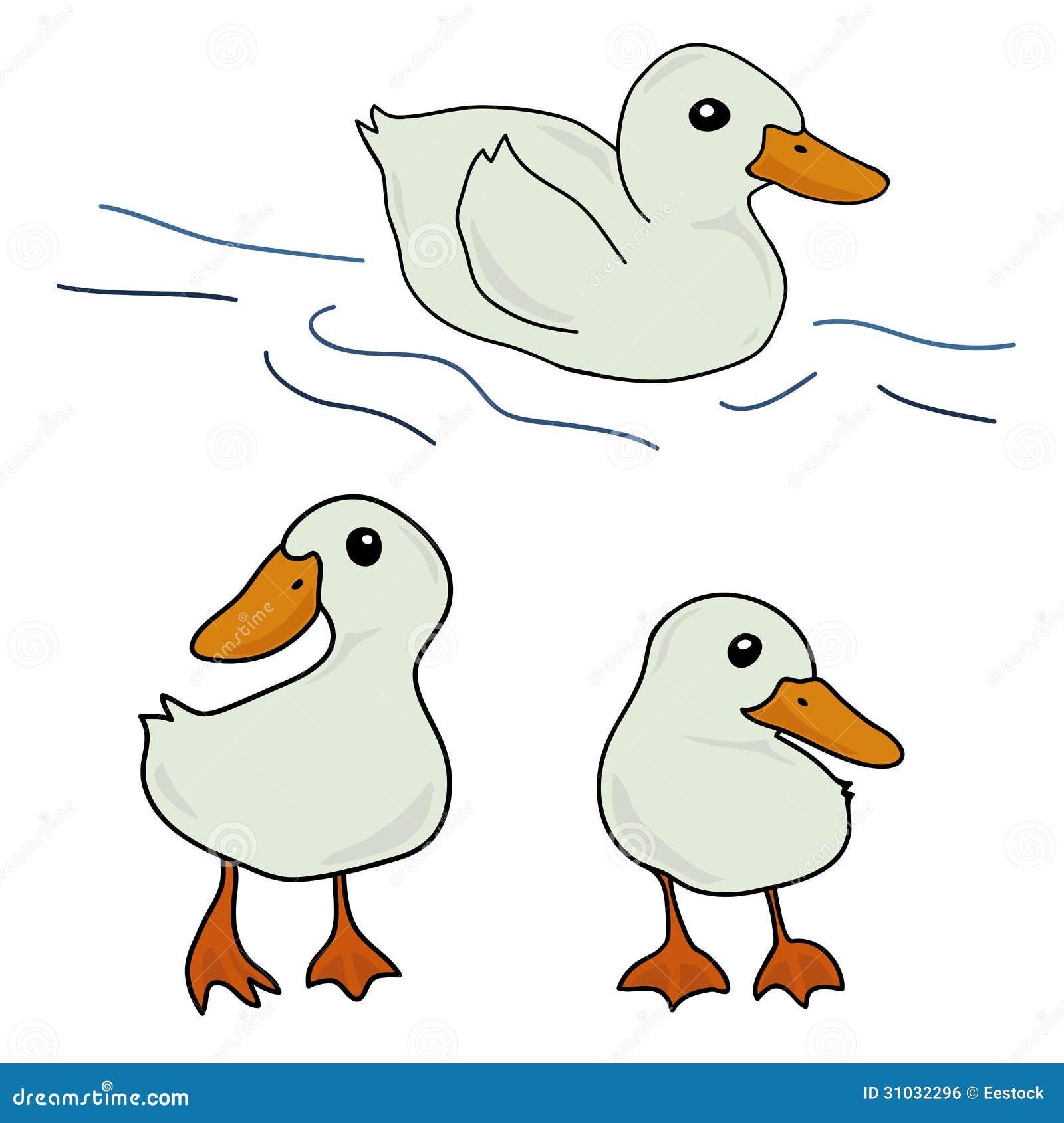 Cute Cartoon Character Design : Set of cute duck cartoon stock vector illustration