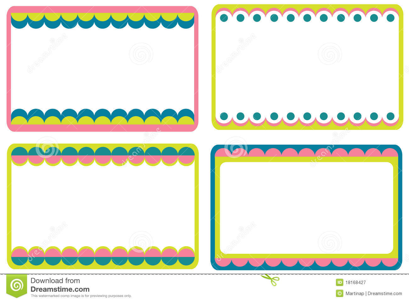 Set Of Cute Frames Royalty Free Stock Photography - Image: 18168427