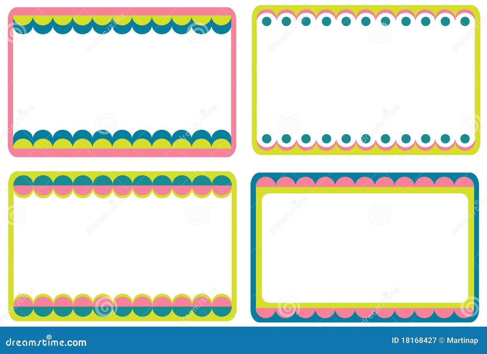 Set of cute frames stock vector. Illustration of gift - 18168427