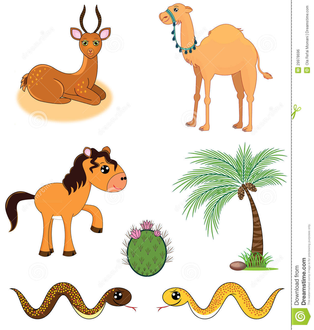 royalty free stock photo download set of desert animals