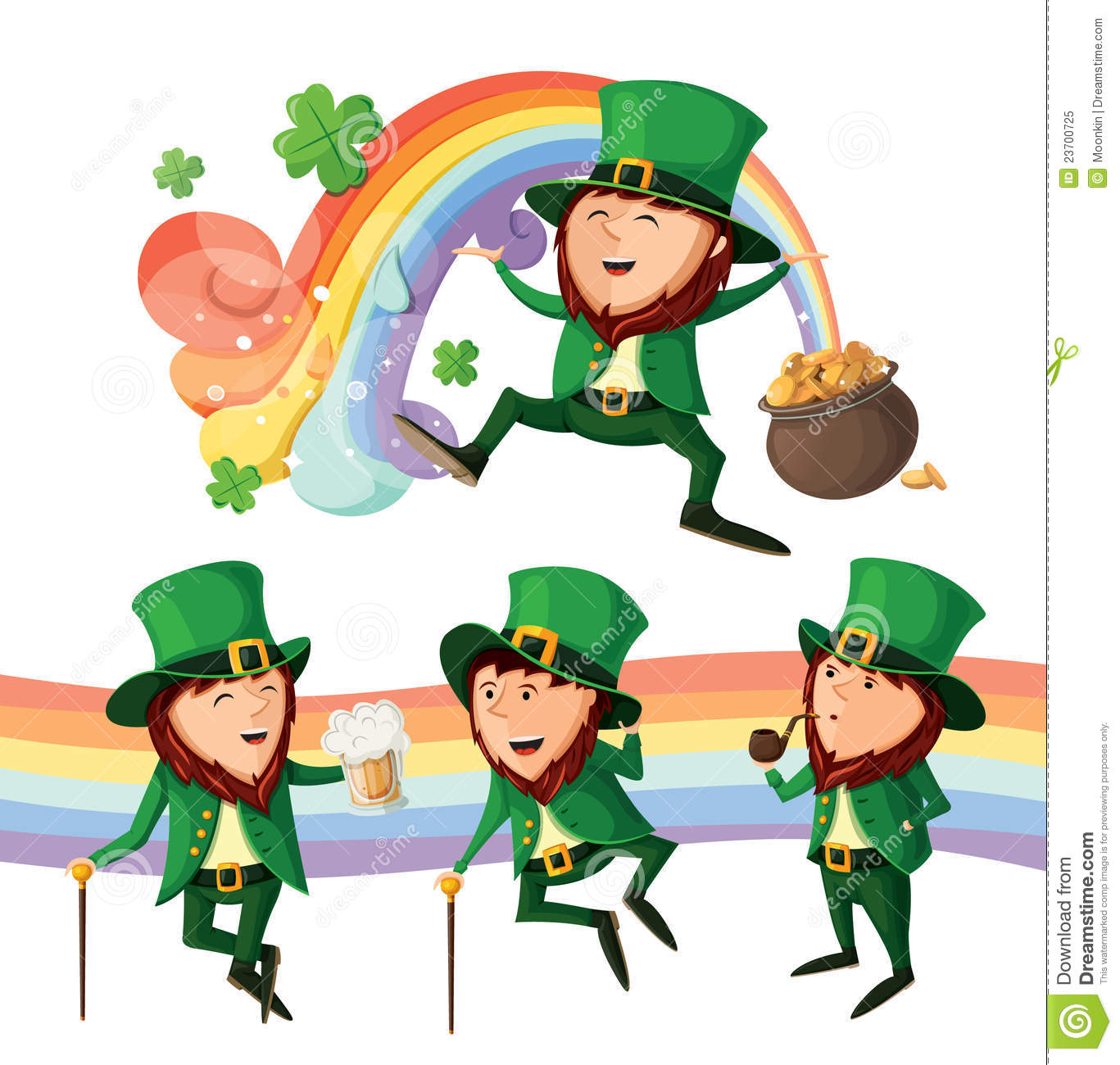 Uncategorized Dancing Leprechauns set of cute leprechauns royalty free stock photo image 23700725 set