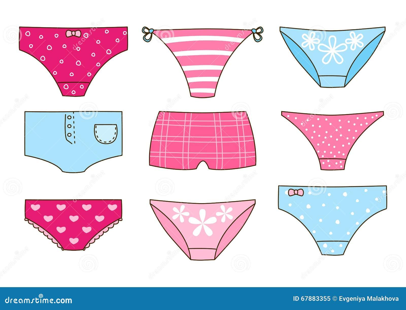 Set of cute panties