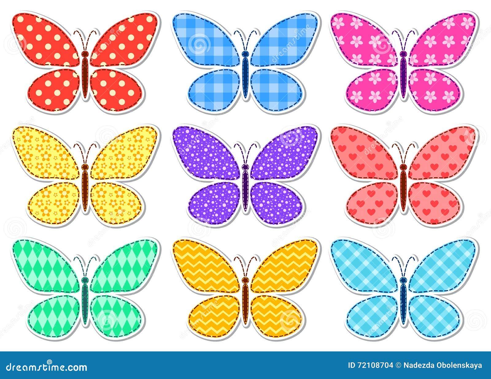 Uncategorized Images Of Butterflies For Children set of cute stickers patchwork butterflies for children stock children