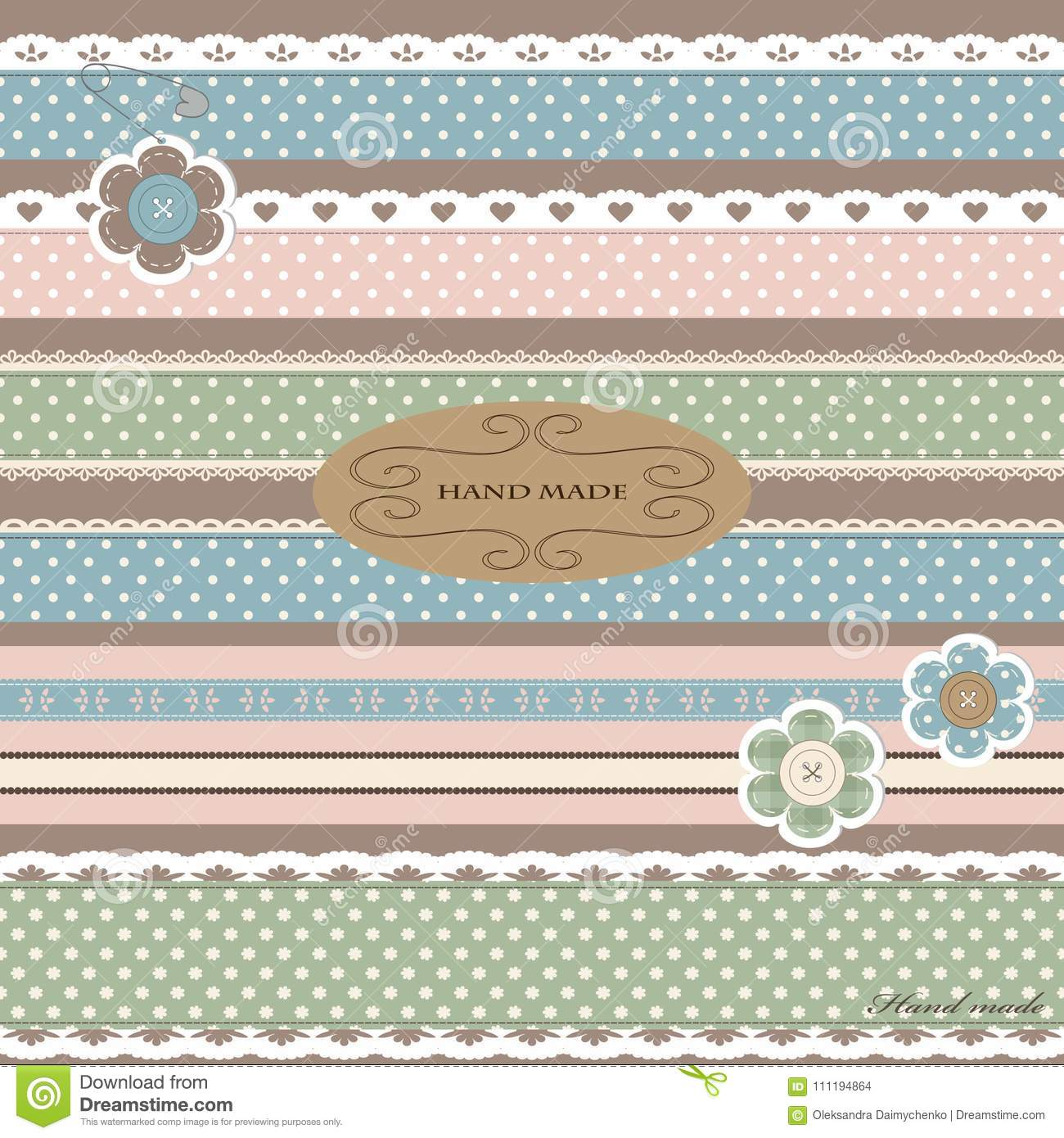 1528c56e1 Set Of Cute Straight Lace And Textile. Stock Vector - Illustration ...