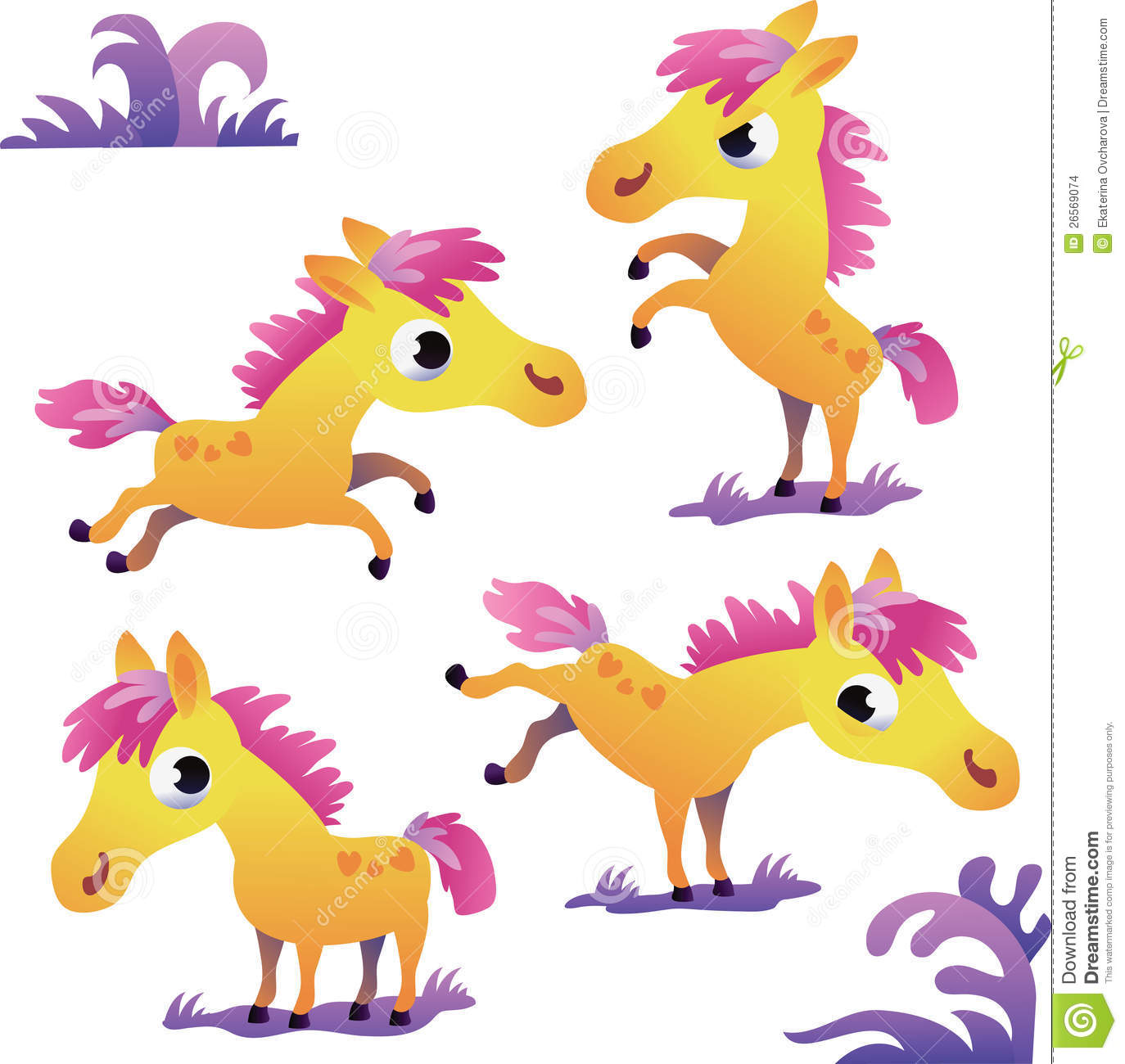 set of cute yellow cartoon pony stock images image 26569074 stallion mascot clipart white stallion clipart