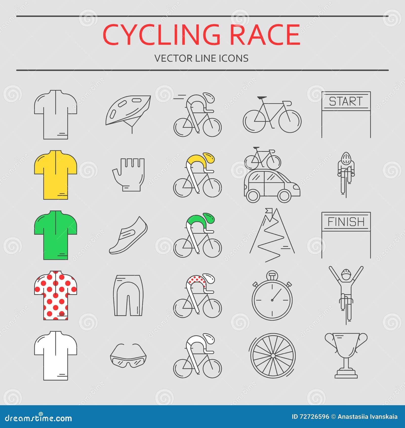 Bicycle Helmet Icon, Outline Style Cartoon Vector ...