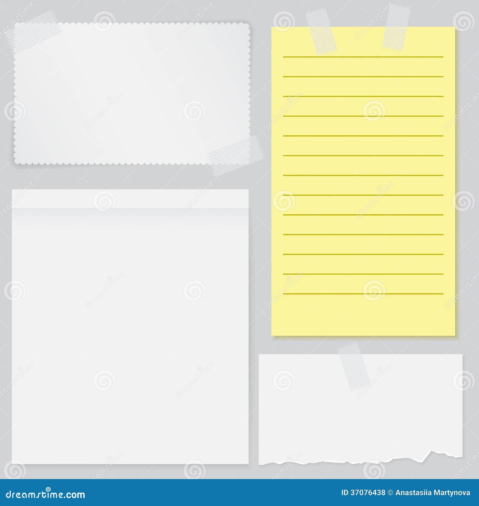 Download Set cztery notatka papieru ilustracja wektor. Ilustracja złożonej z zaciemnia - 37076438