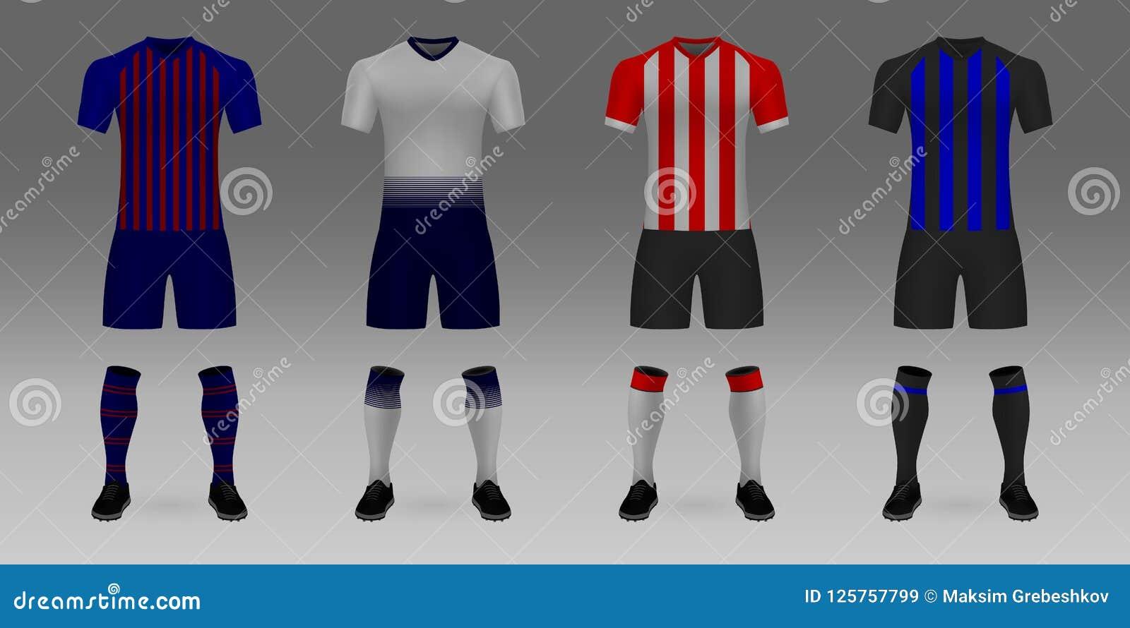 Mockup Of Football Team Uniform Stock Vector - Illustration