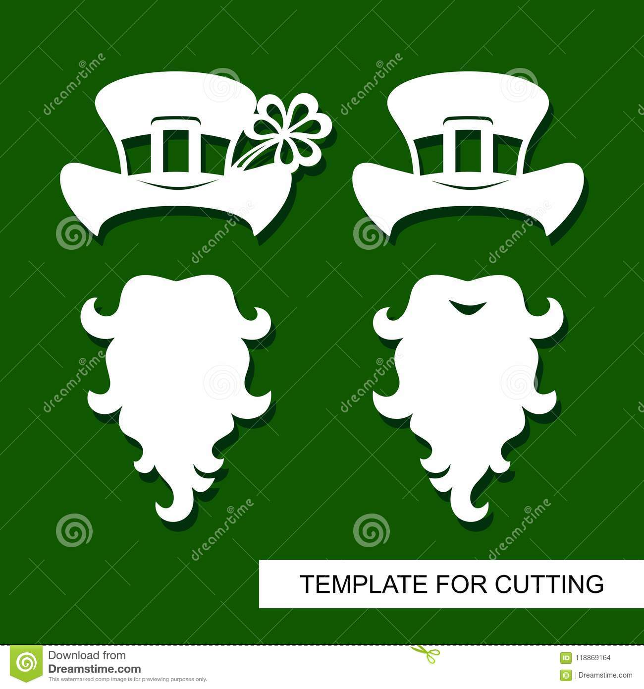 set of decoration for st patrick s day beard hat with buckle
