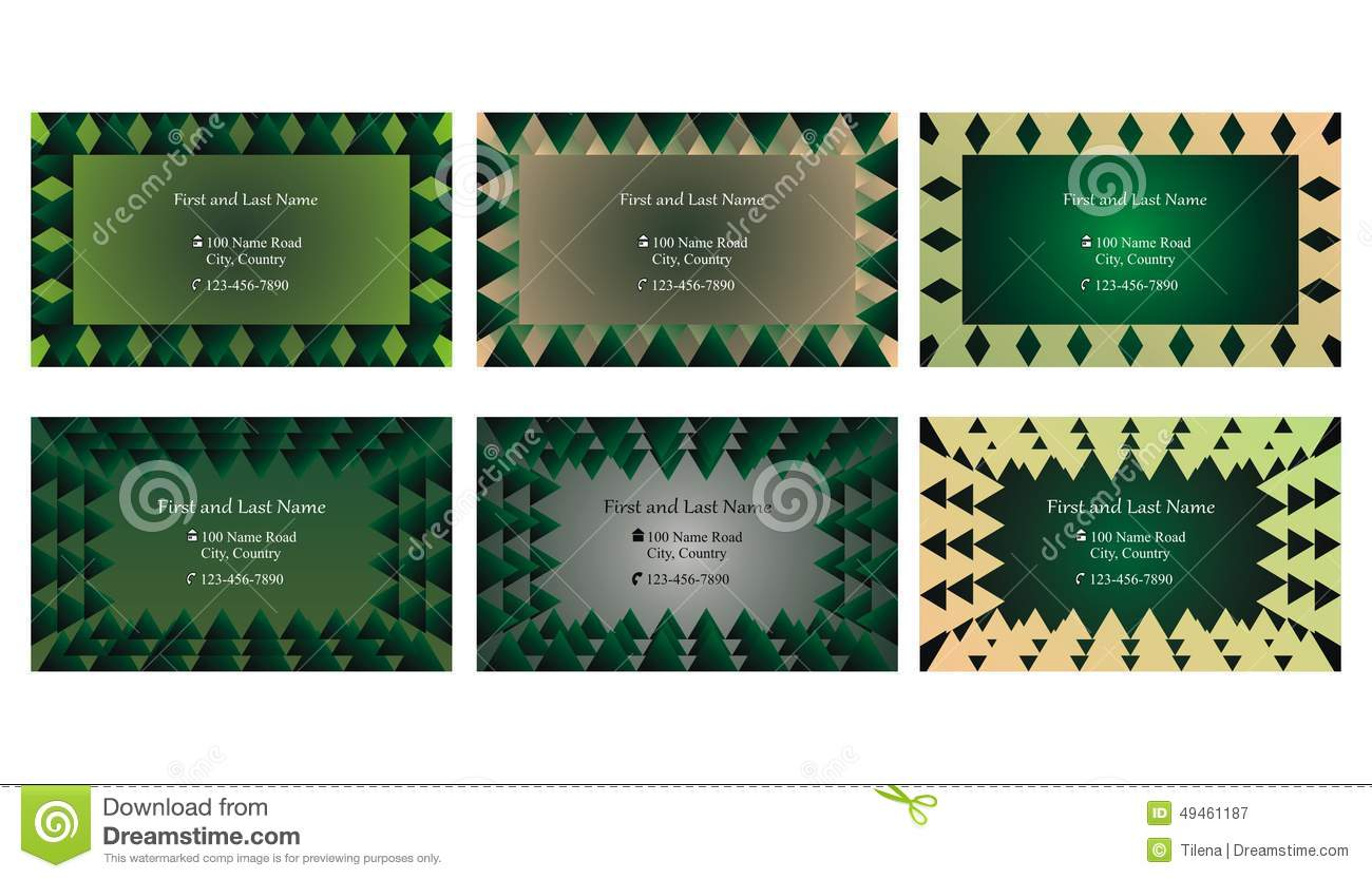 Set of decorative business cards or text frames stock vector set of decorative business cards or text frames magicingreecefo Gallery