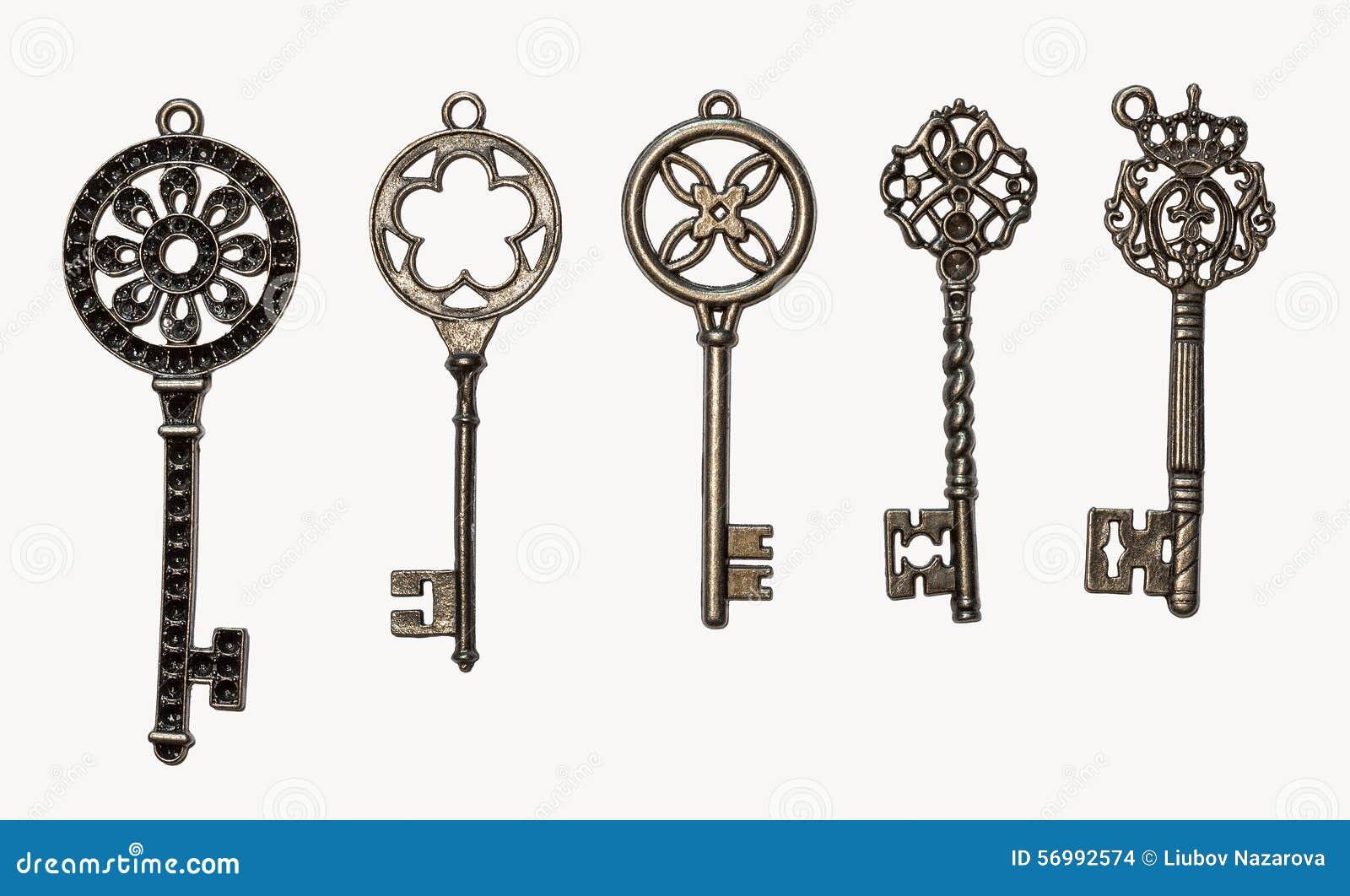 Set Of Decorative Keys Stock Photo Image 56992574
