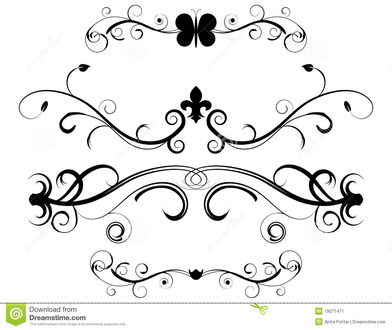 Decorative Page Dividers Stock Photos - Image: 16724813