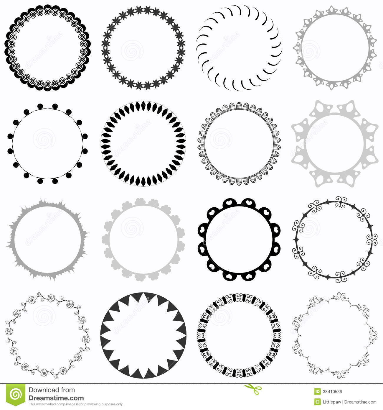 Set of decorative round frames stock vector illustration of sweet set of decorative round frames thecheapjerseys Images