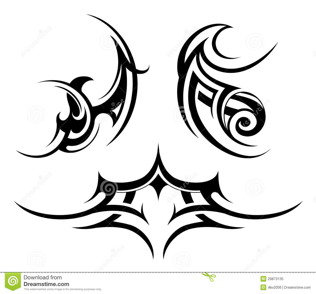 Tribal Art Set Royalty Free Stock Photo Image 29873135