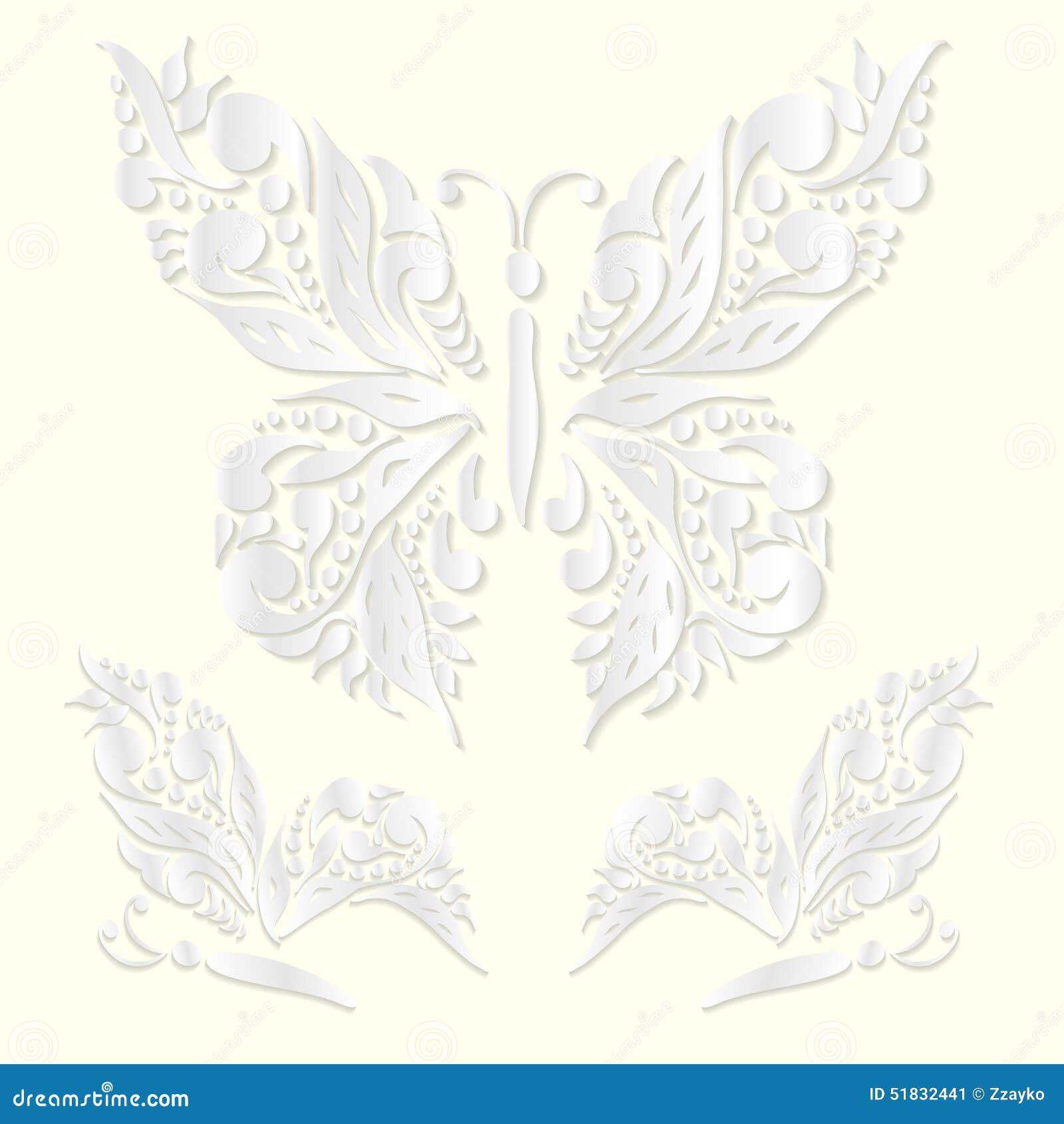 set of decorative vector butterflies cartoon vector