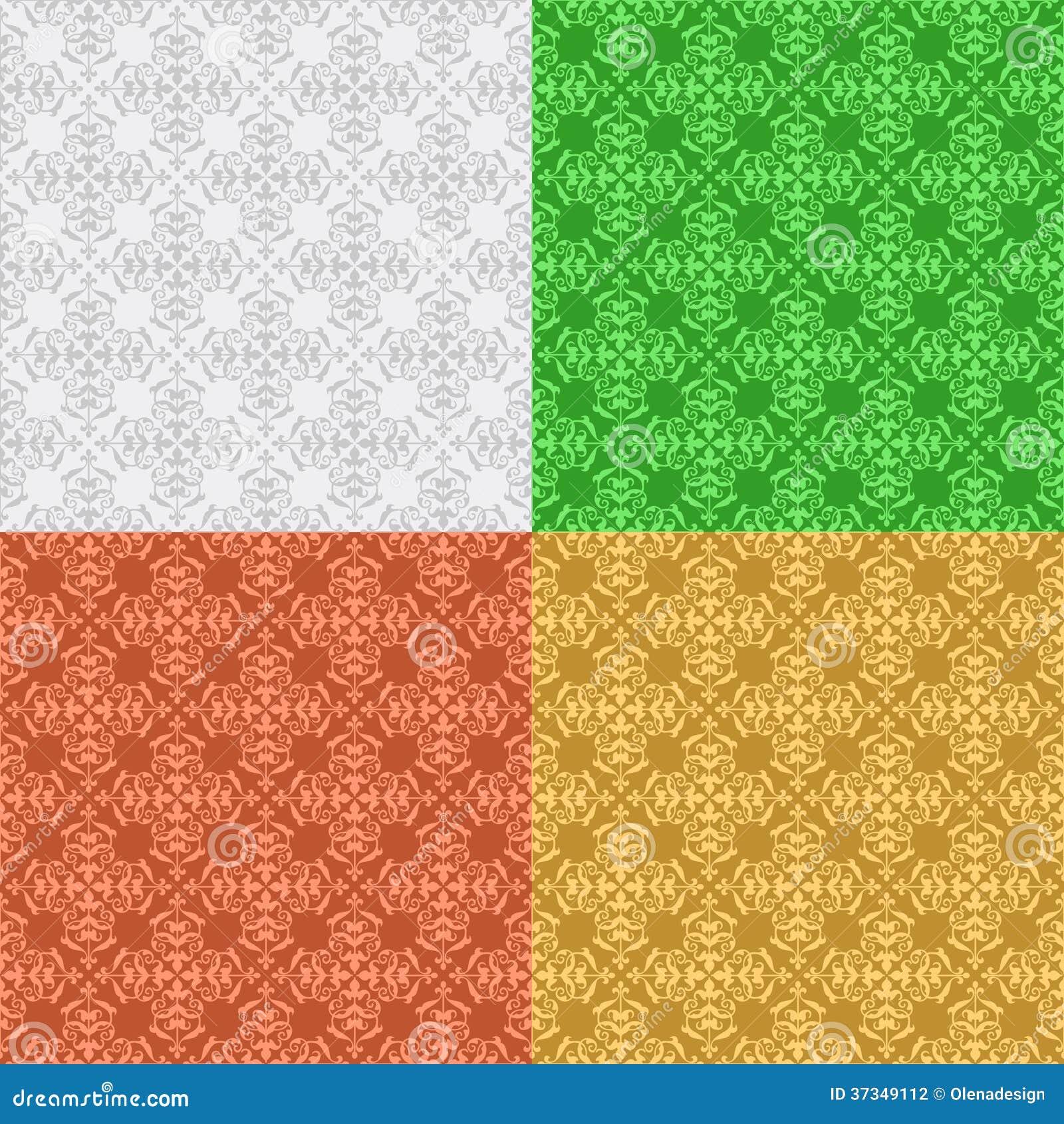Set - dekoracyjni bezszwowi wzory