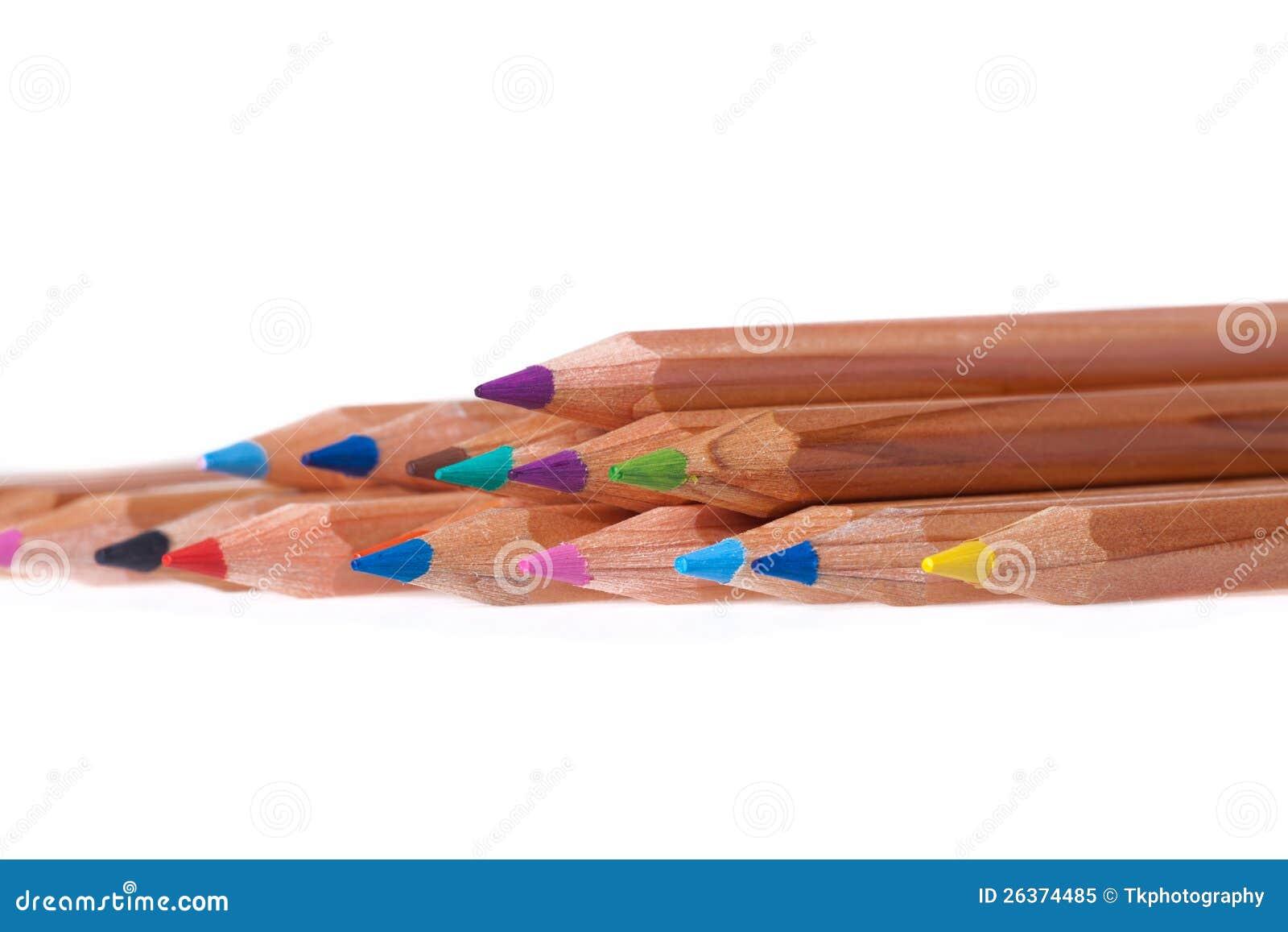 Set des Farbenbleistifts