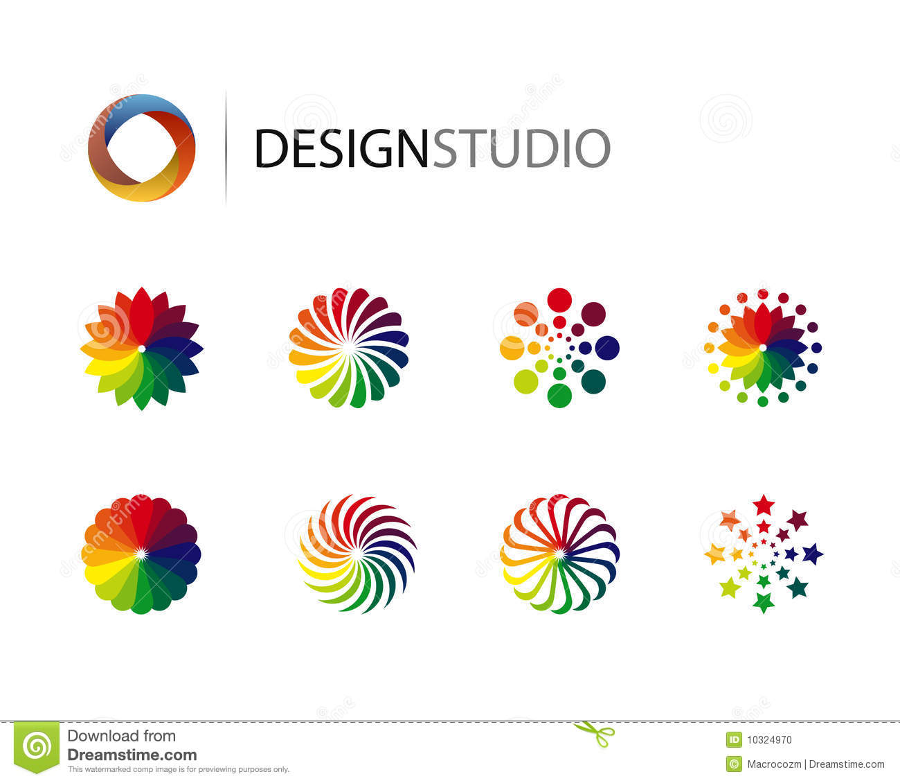 Fabuleux Set Of Design Graphic Logo Elements Stock Photo - Image: 10324970 MY18