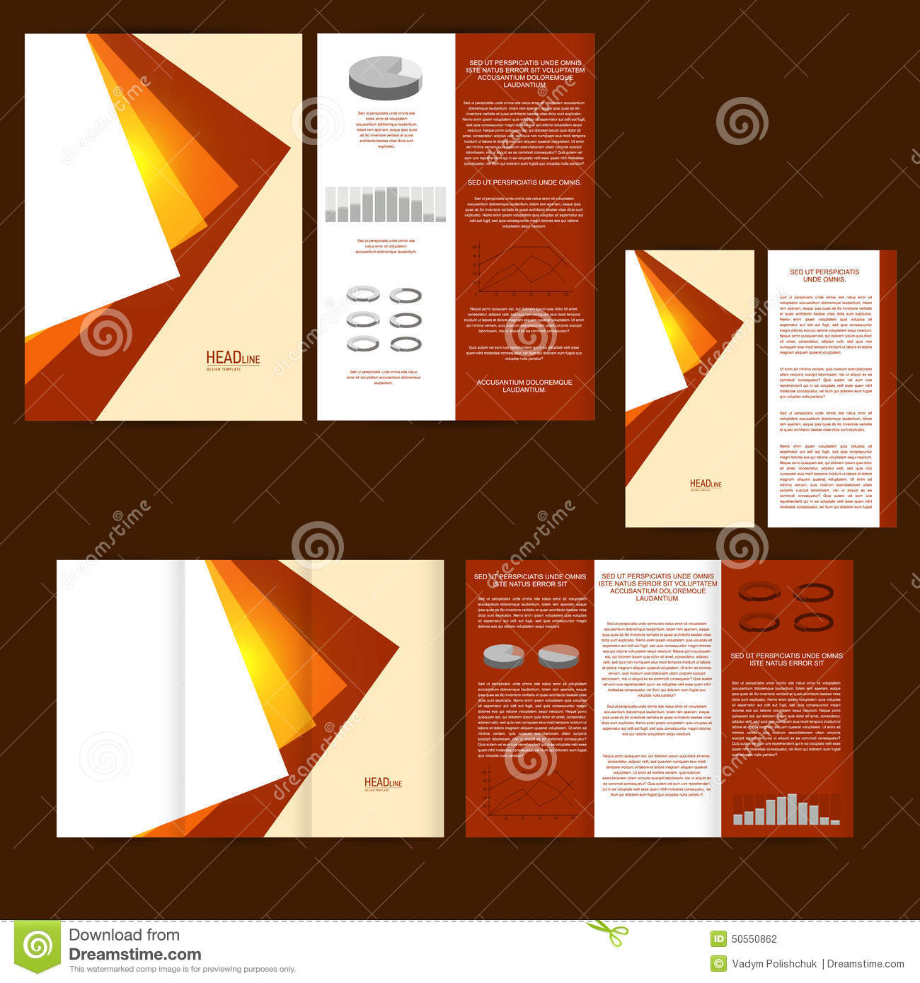 Poster design and printing - Set Of Design Template With Flyer Poster Brochure For Advertising Corporate Identity