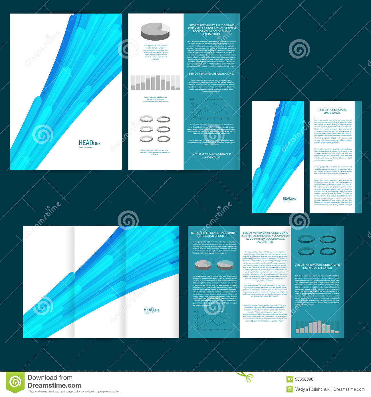 Set Of Design Template With Flyer, Poster, Brochure. For ...