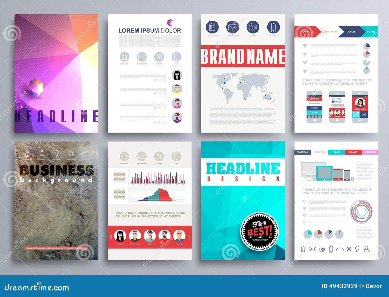 set of design templates for brochures flyers mobile technologi set of design templates for brochures flyers mobile technologi