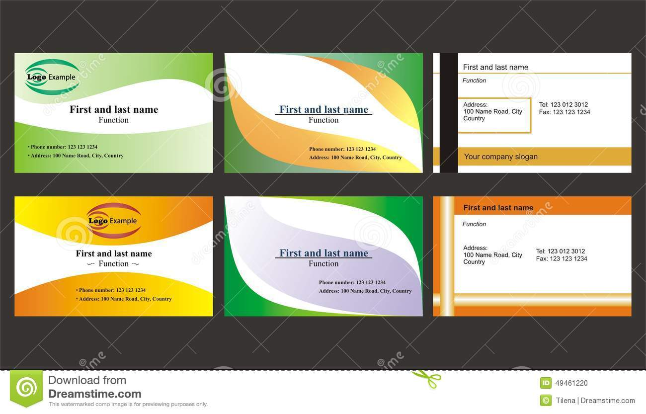 Set Of Different Business Cards Stock Vector - Illustration of ...