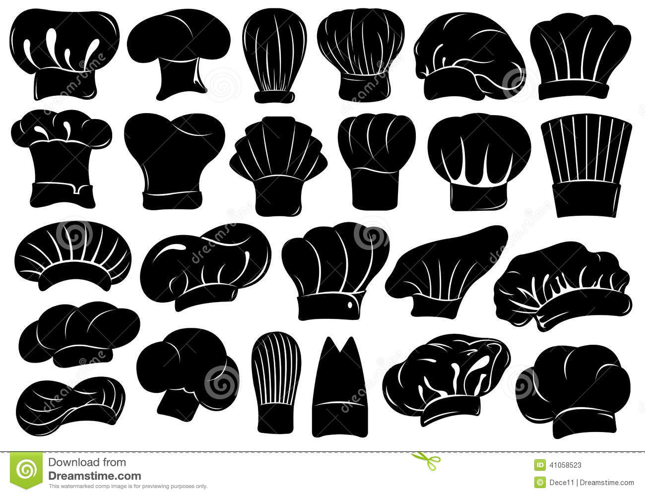 29a96d7c Set Of Different Chef Hats Isolated Stock Vector - Illustration of ...
