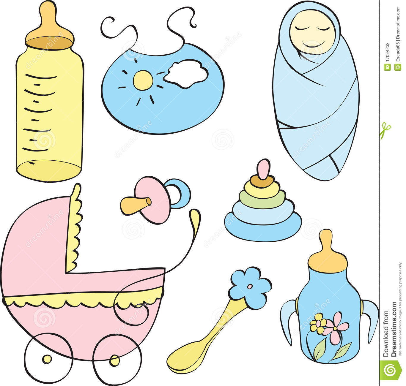 Set of different children s things
