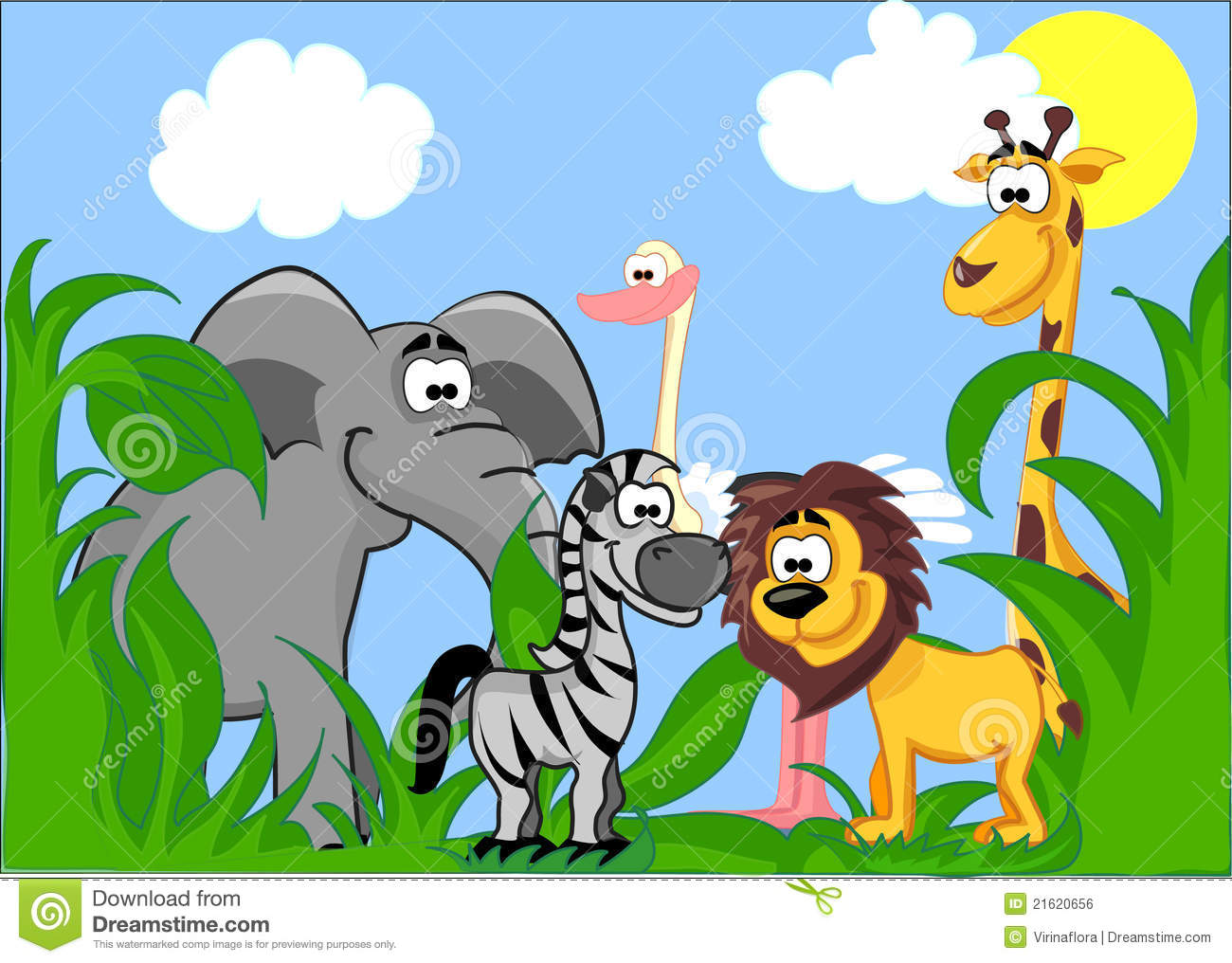 set of different cute animals vector stock vector image
