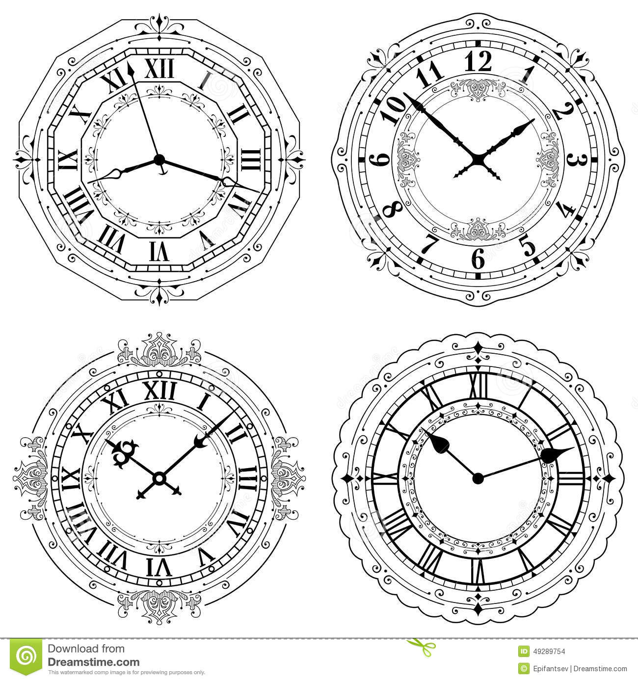 It's just a graphic of Exceptional Clock Face Designs