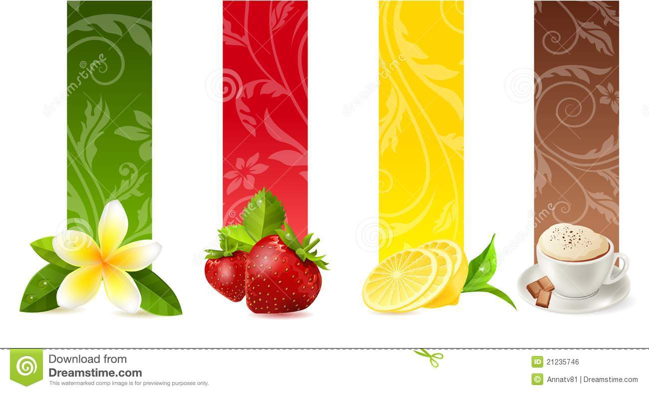Set Of Different Food Banners Stock Vector Image 21235746