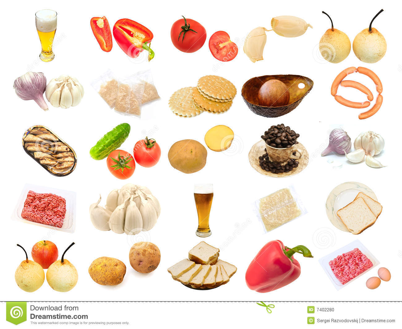 Set From Different Food Items Stock Photo Image Of Cake