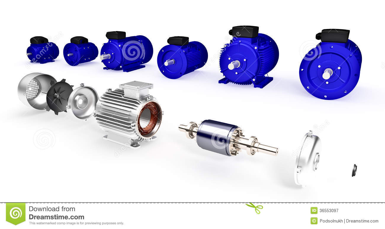 Set of different industrial electric motors stock for Used industrial electric motors