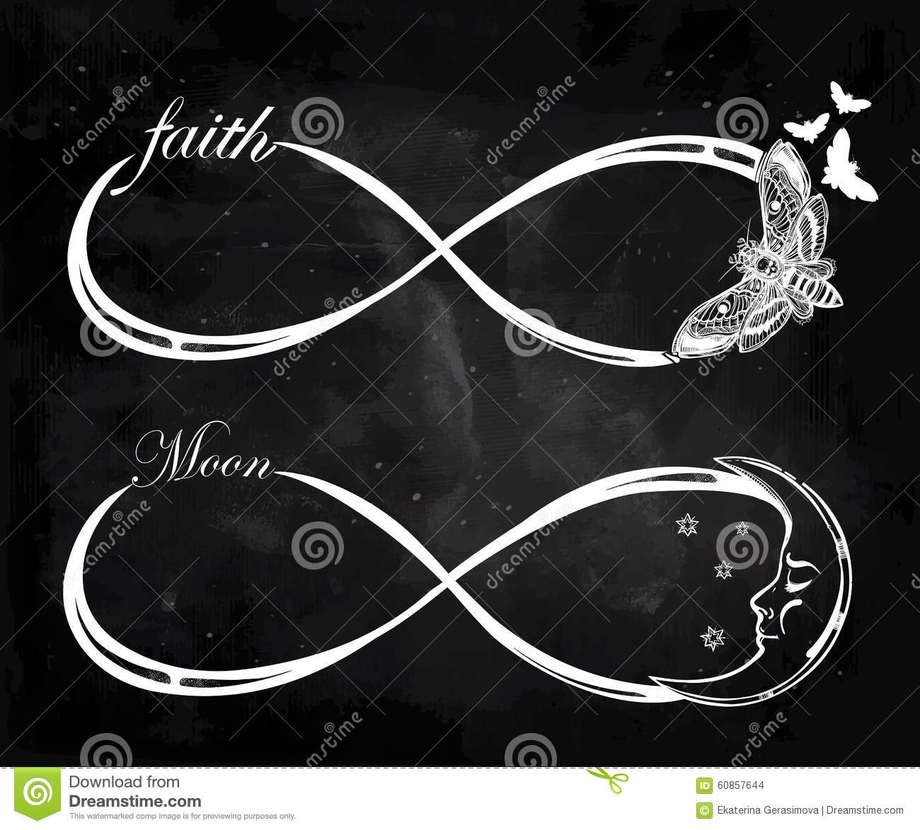 Set of different infinity symbols stock illustration illustration set of different infinity symbols buycottarizona Images